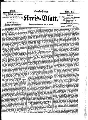 Frankensteiner Kreisblatt vom 16.08.1884