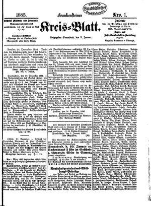 Frankensteiner Kreisblatt vom 03.01.1885
