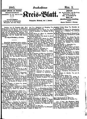 Frankensteiner Kreisblatt vom 07.01.1885