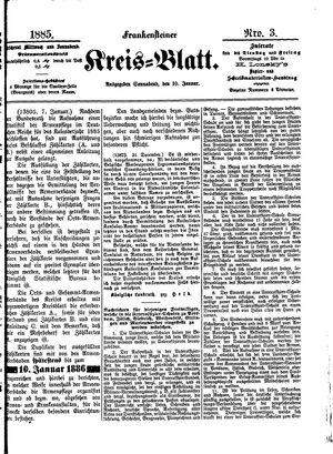 Frankensteiner Kreisblatt on Jan 10, 1885