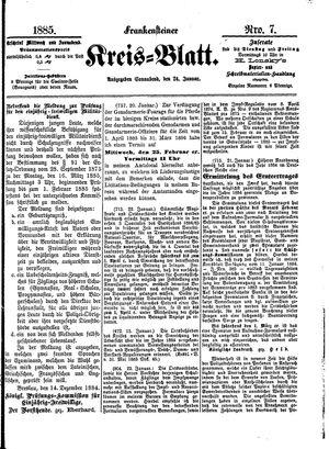 Frankensteiner Kreisblatt vom 24.01.1885