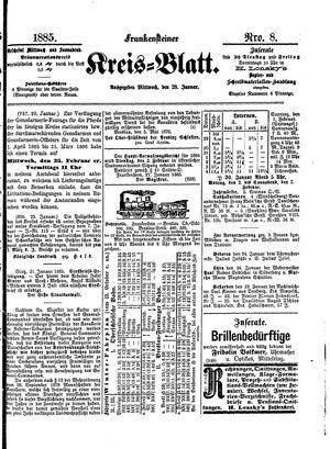 Frankensteiner Kreisblatt vom 28.01.1885
