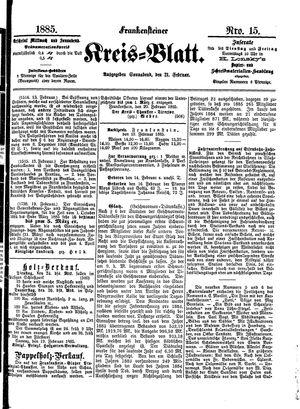 Frankensteiner Kreisblatt vom 21.02.1885