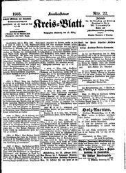 Frankensteiner Kreisblatt (18.03.1885)