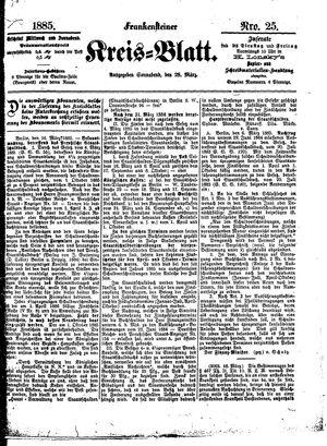 Frankensteiner Kreisblatt vom 28.03.1885