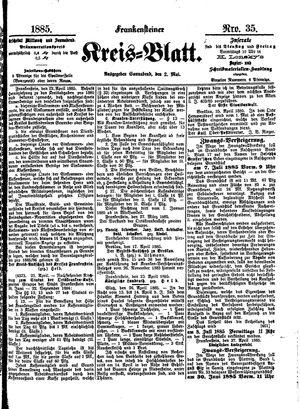 Frankensteiner Kreisblatt vom 02.05.1885