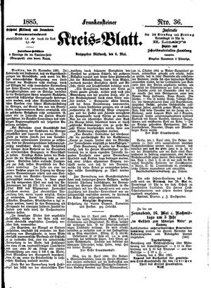 Frankensteiner Kreisblatt on May 6, 1885