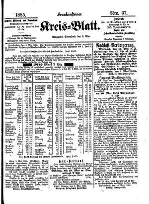 Frankensteiner Kreisblatt vom 09.05.1885