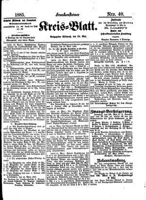 Frankensteiner Kreisblatt vom 20.05.1885