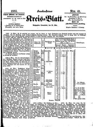 Frankensteiner Kreisblatt vom 23.05.1885