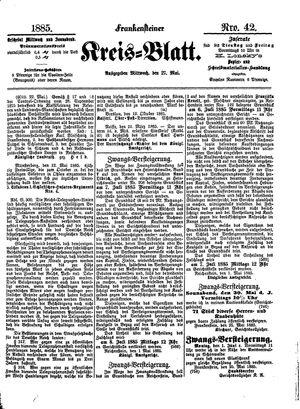 Frankensteiner Kreisblatt vom 27.05.1885