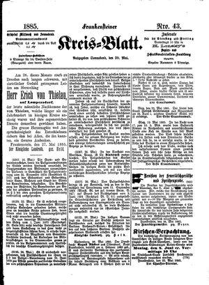 Frankensteiner Kreisblatt vom 30.05.1885