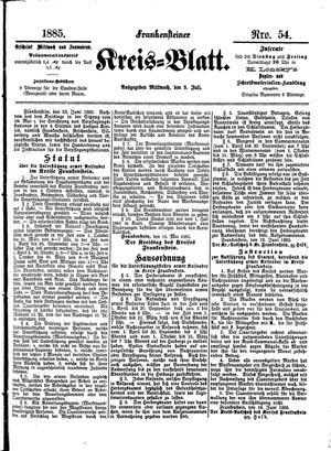 Frankensteiner Kreisblatt on Jul 8, 1885