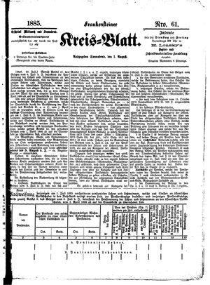 Frankensteiner Kreisblatt vom 01.08.1885
