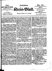 Frankensteiner Kreisblatt (16.12.1885)