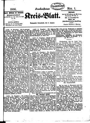 Frankensteiner Kreisblatt vom 02.01.1886
