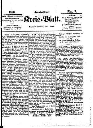 Frankensteiner Kreisblatt vom 09.01.1886