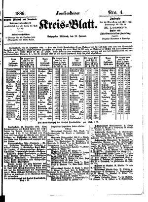 Frankensteiner Kreisblatt vom 13.01.1886