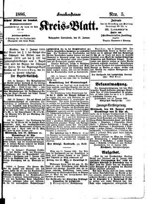 Frankensteiner Kreisblatt vom 16.01.1886