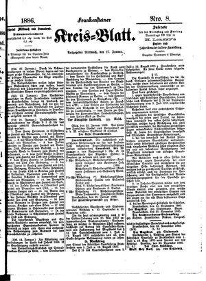 Frankensteiner Kreisblatt vom 27.01.1886