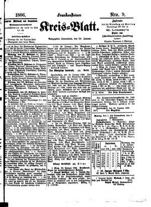 Frankensteiner Kreisblatt vom 30.01.1886