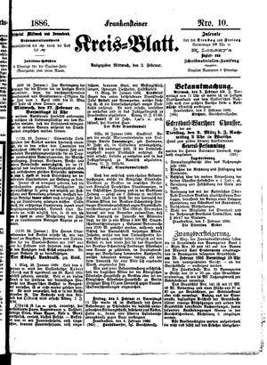 Frankensteiner Kreisblatt vom 03.02.1886