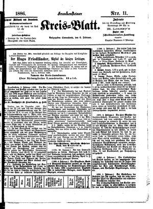 Frankensteiner Kreisblatt vom 06.02.1886