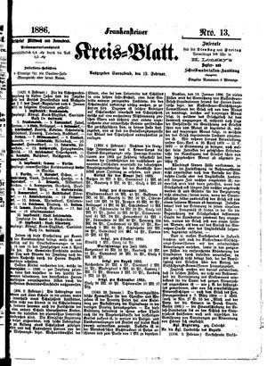 Frankensteiner Kreisblatt vom 13.02.1886