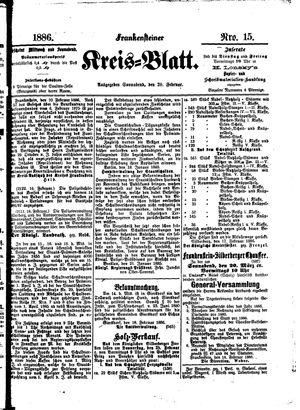 Frankensteiner Kreisblatt vom 20.02.1886