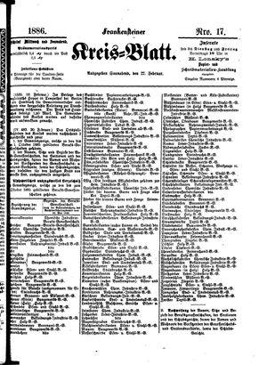 Frankensteiner Kreisblatt vom 27.02.1886