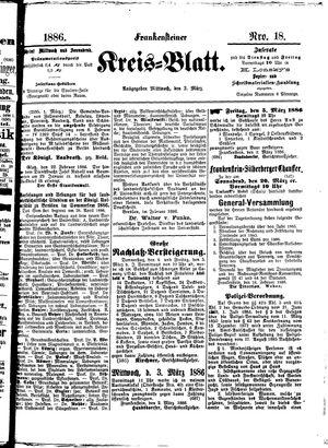 Frankensteiner Kreisblatt vom 03.03.1886