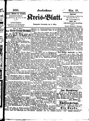 Frankensteiner Kreisblatt on Mar 6, 1886
