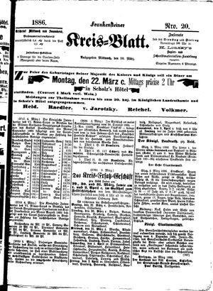 Frankensteiner Kreisblatt vom 10.03.1886