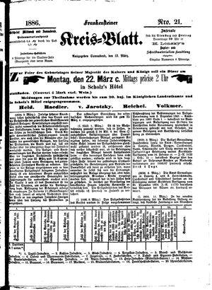 Frankensteiner Kreisblatt vom 13.03.1886