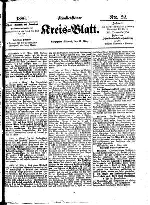 Frankensteiner Kreisblatt vom 17.03.1886