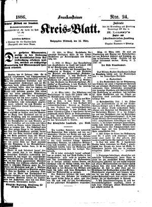 Frankensteiner Kreisblatt vom 24.03.1886