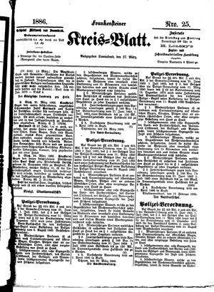 Frankensteiner Kreisblatt vom 27.03.1886