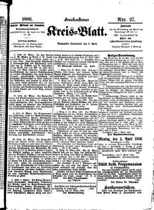 Frankensteiner Kreisblatt vom 03.04.1886