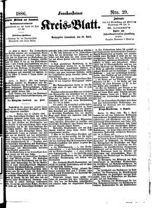 Frankensteiner Kreisblatt vom 10.04.1886
