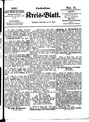 Frankensteiner Kreisblatt vom 17.04.1886
