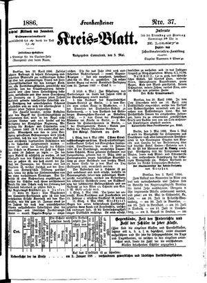 Frankensteiner Kreisblatt vom 08.05.1886