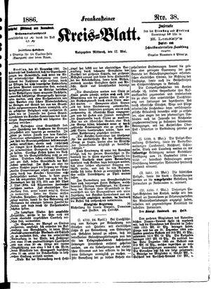 Frankensteiner Kreisblatt vom 12.05.1886