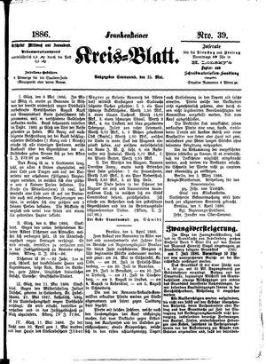 Frankensteiner Kreisblatt vom 15.05.1886