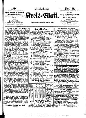 Frankensteiner Kreisblatt on May 22, 1886
