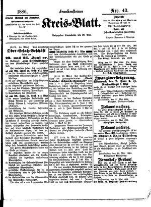 Frankensteiner Kreisblatt vom 29.05.1886