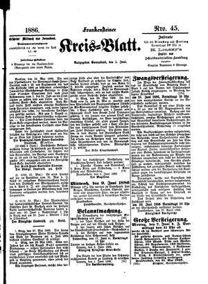 Frankensteiner Kreisblatt vom 05.06.1886