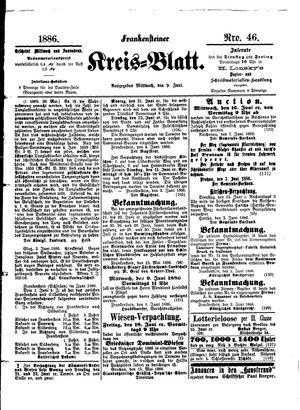 Frankensteiner Kreisblatt vom 09.06.1886