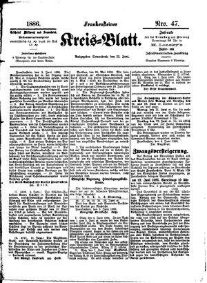 Frankensteiner Kreisblatt vom 12.06.1886