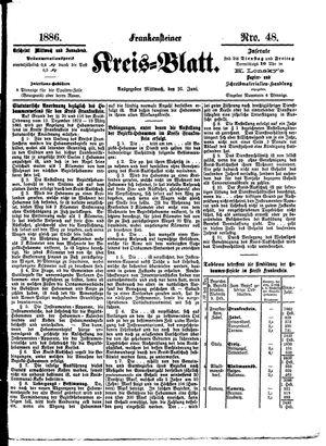 Frankensteiner Kreisblatt vom 16.06.1886