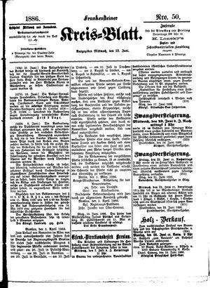 Frankensteiner Kreisblatt vom 23.06.1886